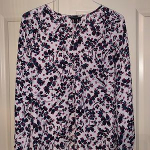 Pretty blouse with pink & blue floral pattern